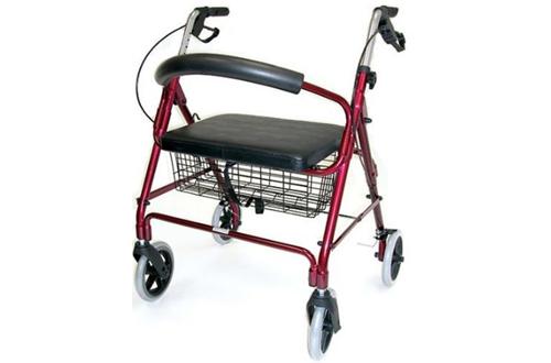 Duro-Med Lightweight Extra-wide Aluminum Rollator Walker