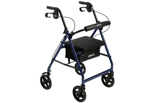 Drive Medical Aluminum Rollator Walker