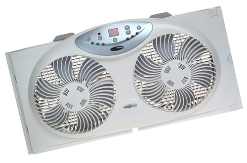 Twin Reversible Airflow Window Fan