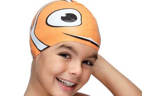 Fun Design Kids Silicone Swim Cap Animal Shaped for Boys and Girls