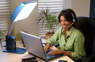 Carex Health Brands Day-Light Sky 10,000 LUX Bright Light Therapy Lamp