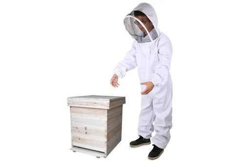 DGCUS Professional Cotton Full Body Beekeeping Suit