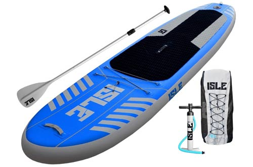 ISLE Airtech Inflatable 10' All Around Stand Up Paddle Board