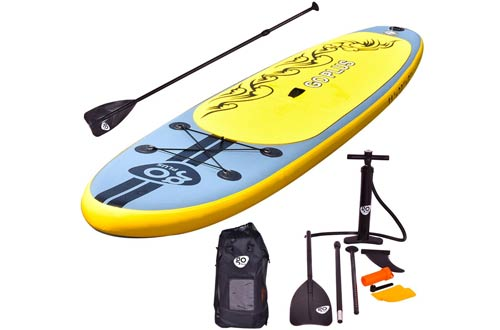 Goplus Inflatable 11' Stand Up Paddle Board Package