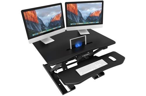 LANGRIA Standing Desk Converter, Height Adjustable Sit Stand Desk