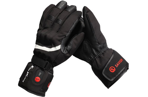 Professional motorcycle heating gloves