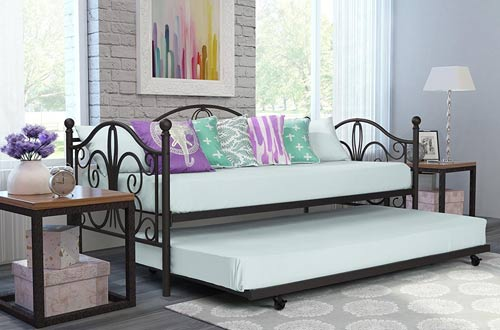 DHP Twin Metal Daybed and Roll Out Trundle Combo