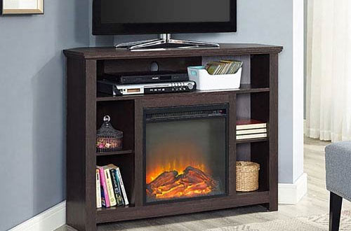 Corner Highboy Fireplace TV Stand