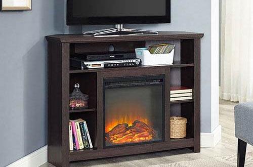 Corner Highboy Fireplace TV Stand