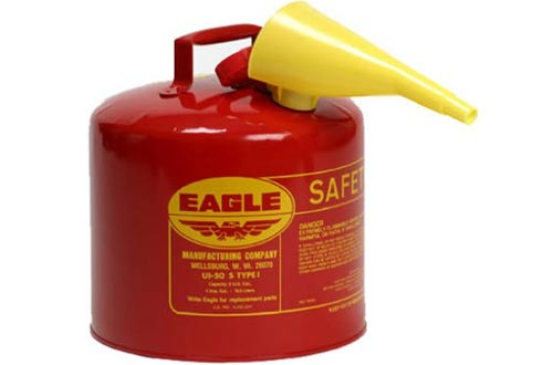 Gasoline Safety Can with Funnel