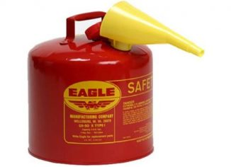 Galvanized Steel Eagle UI-50-FS Red Gasoline Safety Can