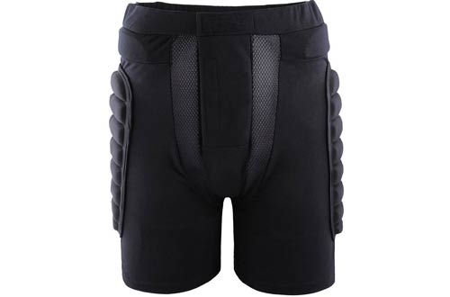 Xtextile 3D Unisex Protective Gear Hip Butt Padded Shorts