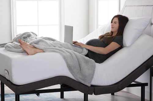 LUCID L300 Twin XL Charcoal Adjustable Bed Bases