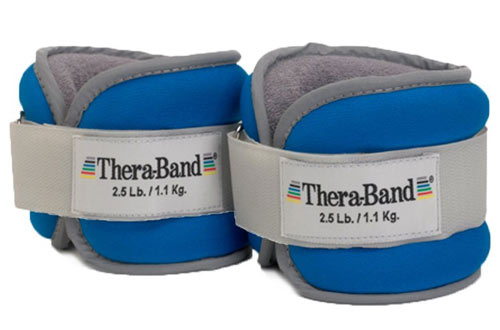 TheraBand Adjustable Comfortable Ankle Weights