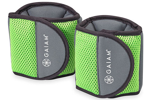 Gaiam Fitness Ankle Weights - 5lb Set