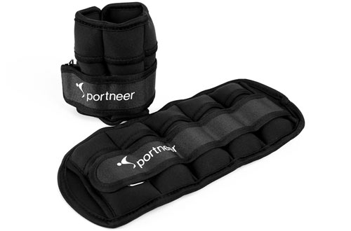 Sportneer Adjustable Ankle Weights & Ankle Wrist Weight Straps