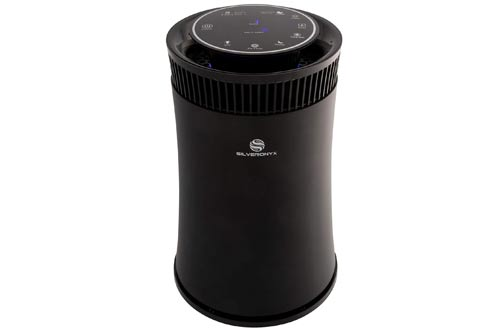 SilverOnyx Air Purifier with True HEPA Carbon Filter, UV Light, Ionizer