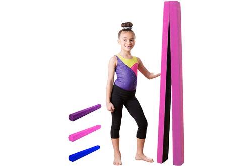 Gymnastics Balance Beam: Low Profile, Soft, Folding Floor Gymnastics Equipment for Kids