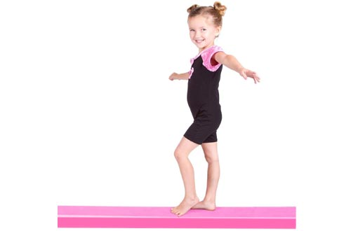 REEHUT 9' Folding Floor Balance Beam Low Profile Gymnastics Skill Performance Training