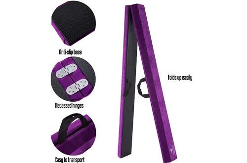 Junior Gymnastics Balance Beam – 8 Ft Folding Wood