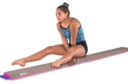 Juperbsky Gymnastics Half Folding and Joinable Suede Floor Foam Practice Balance Beam for kids