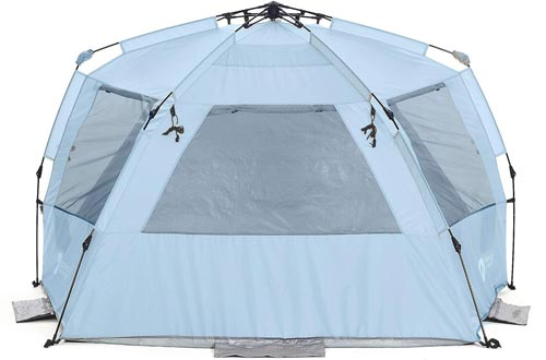 Easthills Outdoors Easy Up 4 Person Beach Tent Sun Shelter