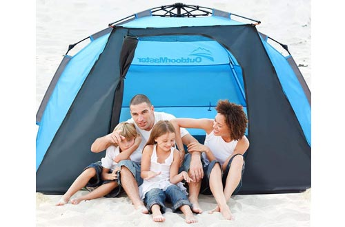 OutdoorMaster Portable UV Protection Beach Shade Tent for Kids & Family