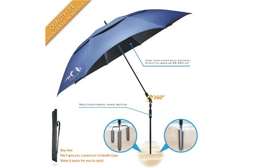 BESROY Portable Sun Beach Umbrella