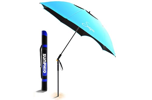 Sunphio Large Windproof Beach Umbrella
