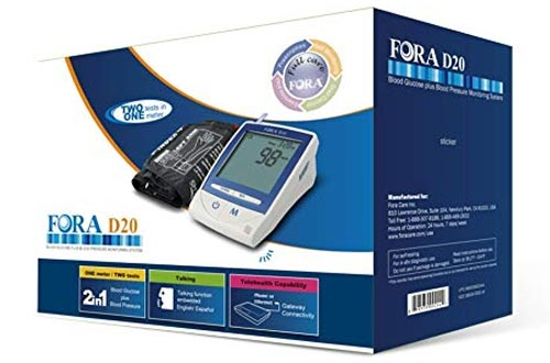 FORA D20 2 In 1 Blood Glucose/Pressure Meter