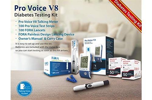 Pro Voice V8 Diabetes Testing kit