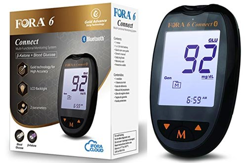FORA6Connect Blood Ketone and Blood Glucose Testing Meter Kit