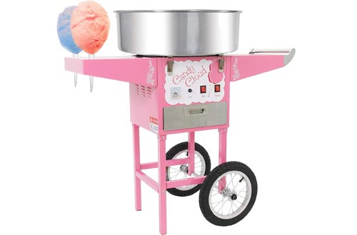 andy Cloud Cotton Candy Machine with Mobile Wheeled Cart