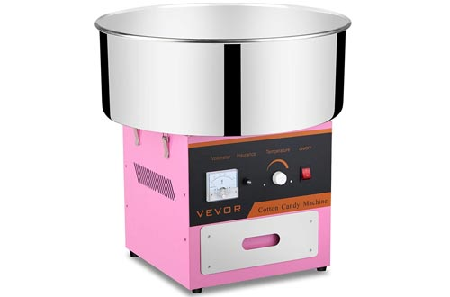 FoodKing Clear Plastic Bubble Shield for Cotton Candy Machine