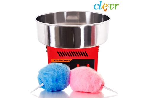 Clevr Large Commercial Cotton Candy Machine Party Candy Floss Maker