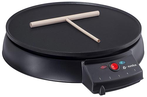 Eurolux Original French Style 12 Inch Electric Griddle and Crepe Maker