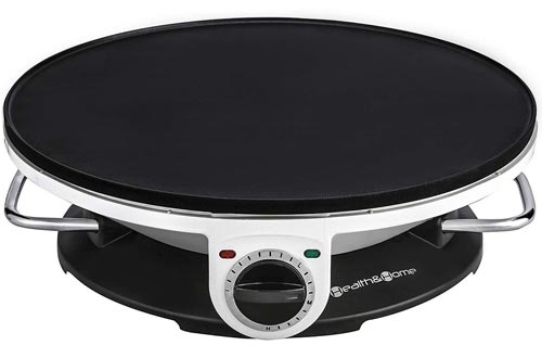 13 Inch Crepe Maker & Electric Griddle - Non-stick Pancake Maker