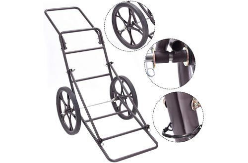 Goplus Folding Deer Game Cart Larger Capacity 500lbs Hauler Utility Gear Dolly Cart Hunting