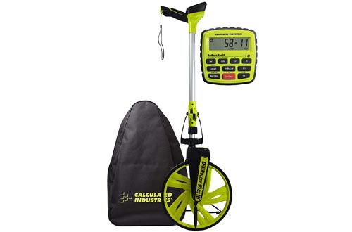 Electronic Distance Measuring Wheel with Large Backlit Digital Display