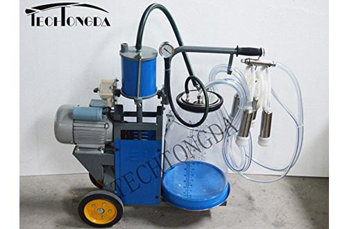 Cow Piston Milking Machine with Transparent Bucket Milker 110V