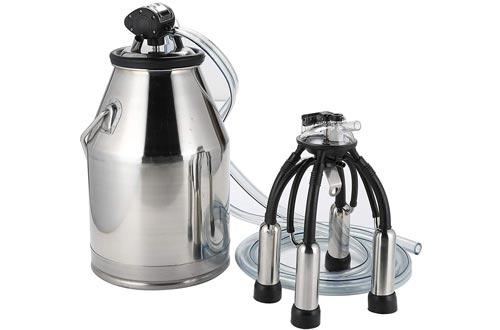 CO-Z 25L Portable Dairy Cow Milker Milking Machine
