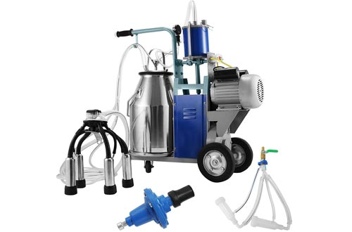 Happybuy Electric Milking Machine 1440 RPM 10-12 Cows per Hour Milking Machine