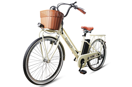 "NAKTO 26"" 250W City Electric Bicycle Sporting Shimano 6- Speed Gear EBike"