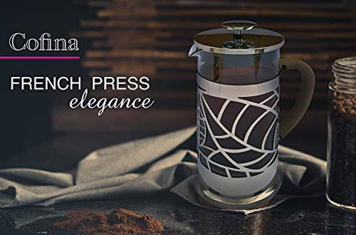 Cofina French Press Coffee Maker - 34 oz Large French Coffee Press Bundle