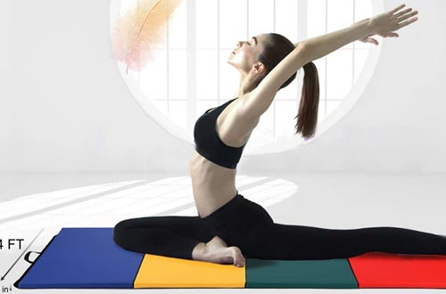Thick Folding Panel Gymnastics Mat Gym Fitness Exercise Multicolor
