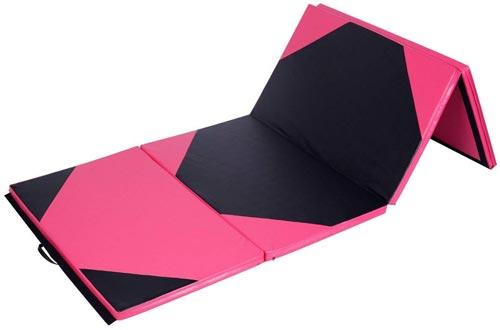 Giantex 4'x10'x2 Gymnastics Mat Thick Folding Panel For Gym Fitness