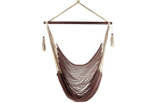 Krazy Outdoors Mayan Hammock Chair - Large Cotton Rope Hanging Chair Swing