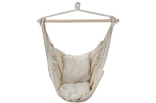 Swing Hanging Hammock Chair With Two Cushions By ARAD