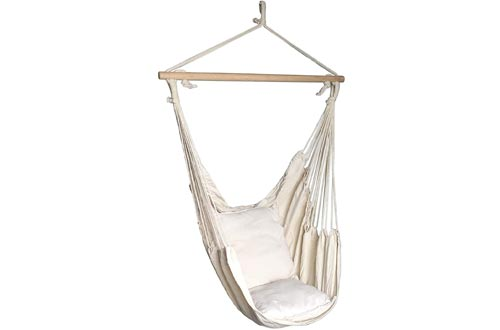 SueSport Hanging Rope Hammock Chair Porch Swing Seat Sky Chair