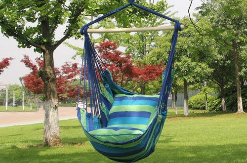 Sorbus Hanging Rope Hammock Chair Swing
